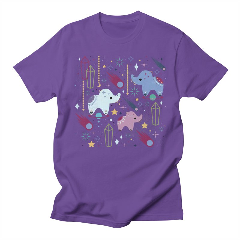 Elephants in Space  Women's Unisex T-Shirt by carlywatts's Shop