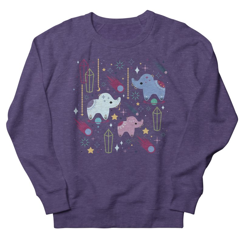 Elephants in Space  Women's Sweatshirt by carlywatts's Shop
