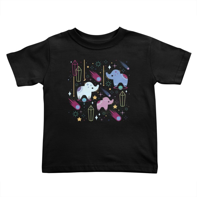 Elephants in Space  Kids Toddler T-Shirt by carlywatts's Shop