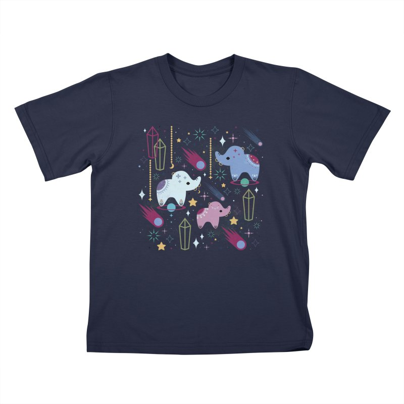 Elephants in Space  Kids T-shirt by carlywatts's Shop