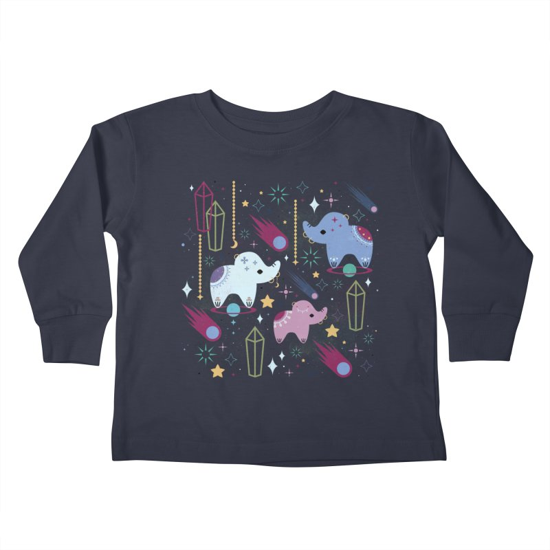 Elephants in Space  Kids Toddler Longsleeve T-Shirt by carlywatts's Shop