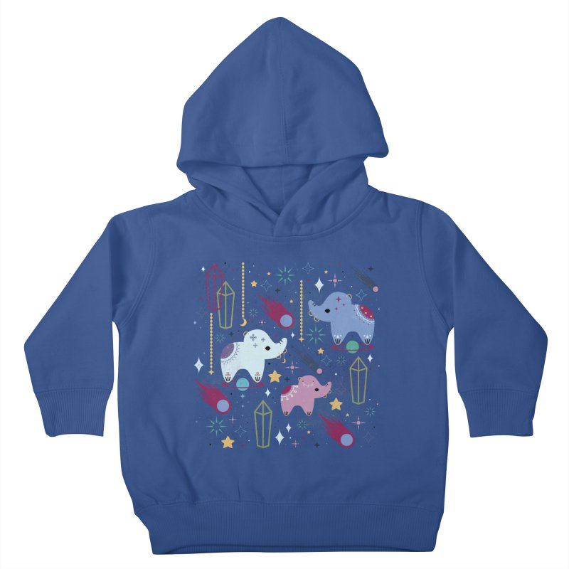 Elephants in Space  Kids Toddler Pullover Hoody by carlywatts's Shop