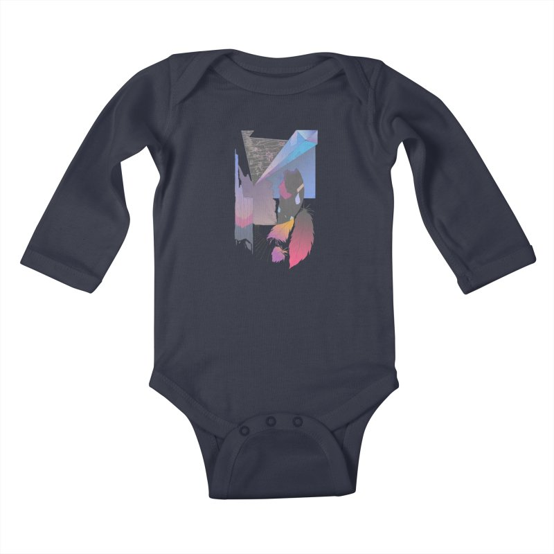 Night Formation Kids Baby Longsleeve Bodysuit by Solocity