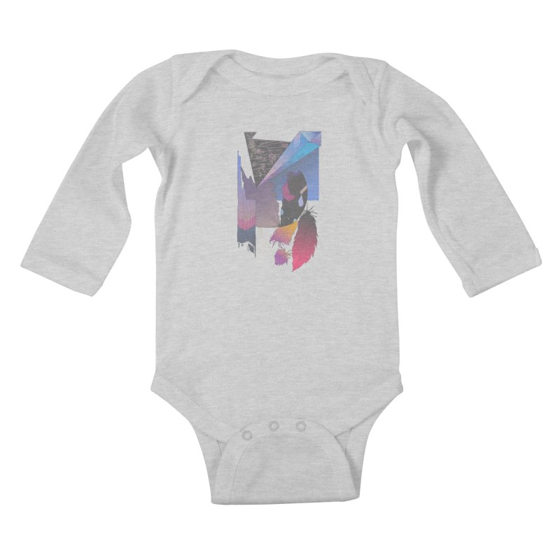 Night Formation Kids Baby Longsleeve Bodysuit by Solocity