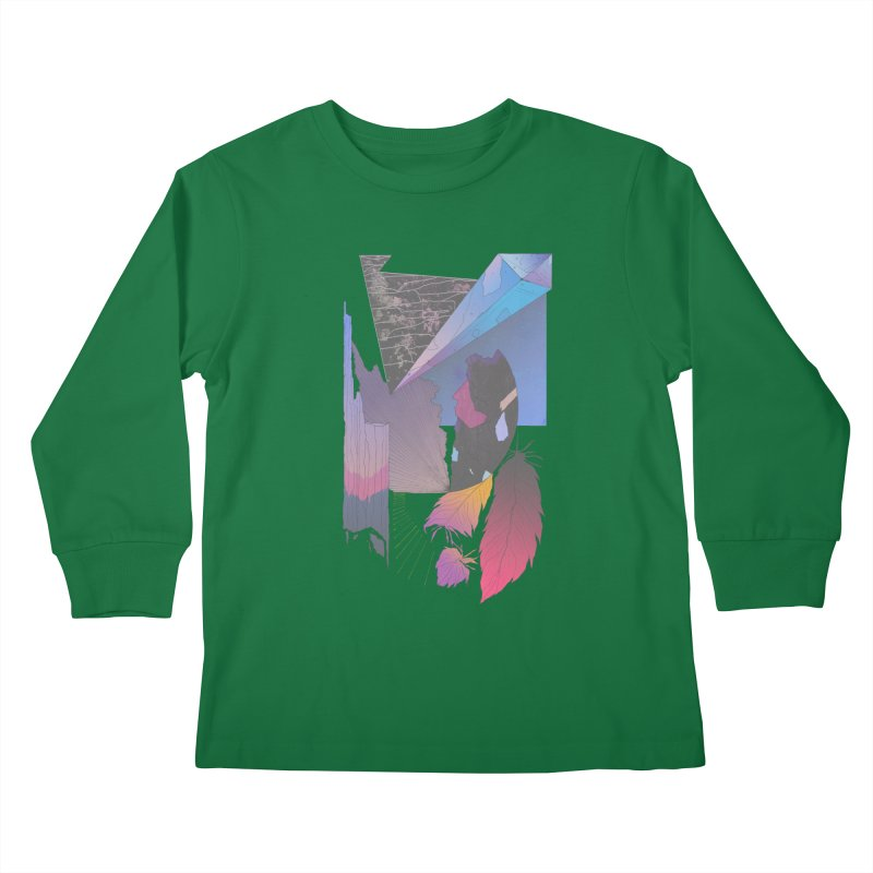 Night Formation Kids Longsleeve T-Shirt by Solocity