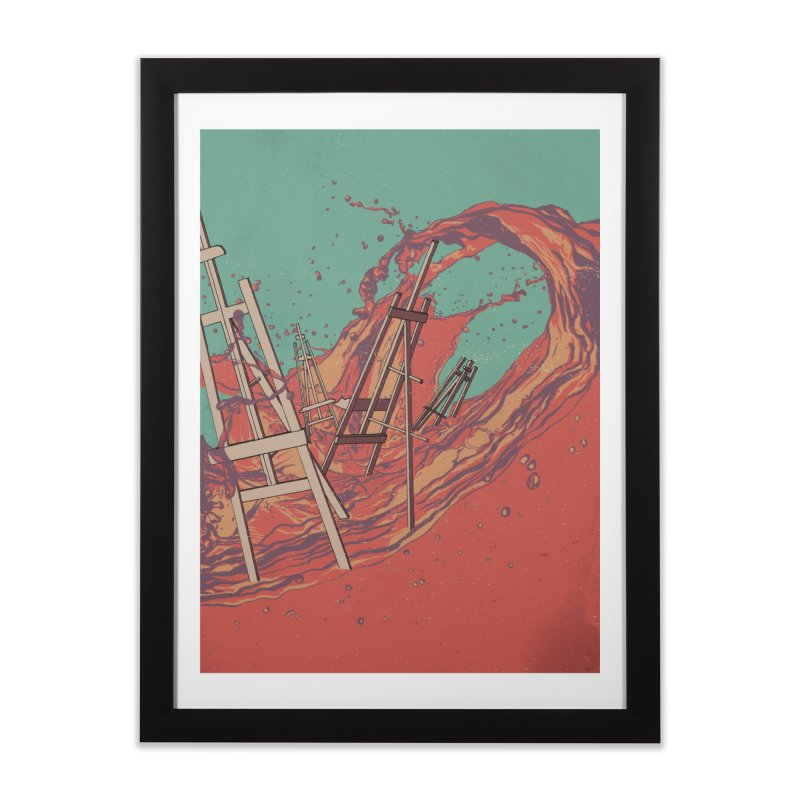 Les Chevalets Home Framed Fine Art Print by Solocity