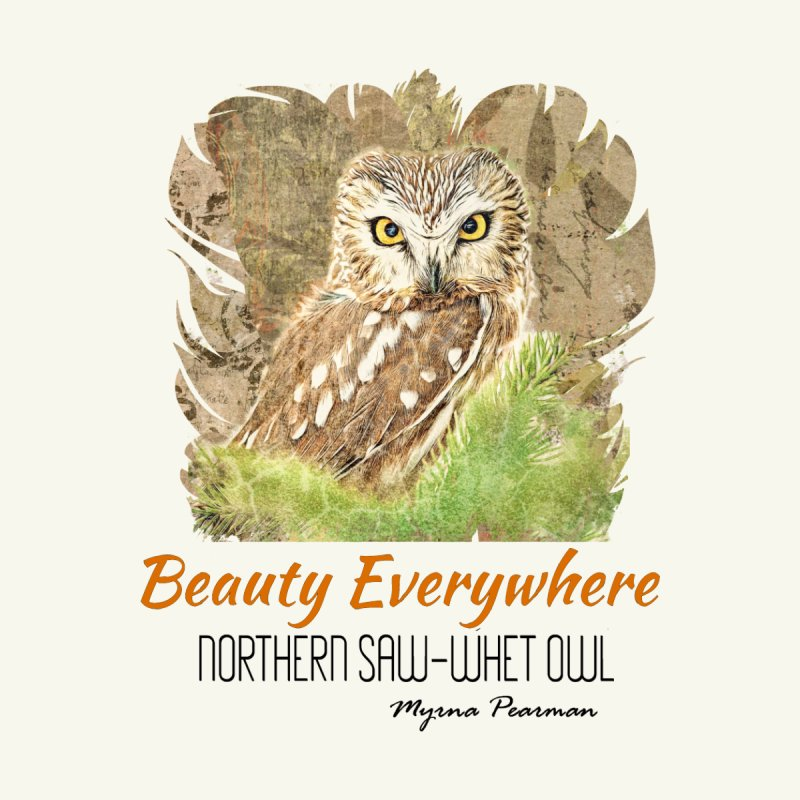 BEAUTY EVERYWHERE-BK TEXT-CAROLYN SANDSTROM Men's T-Shirt by Carolyn Sandstrom Art