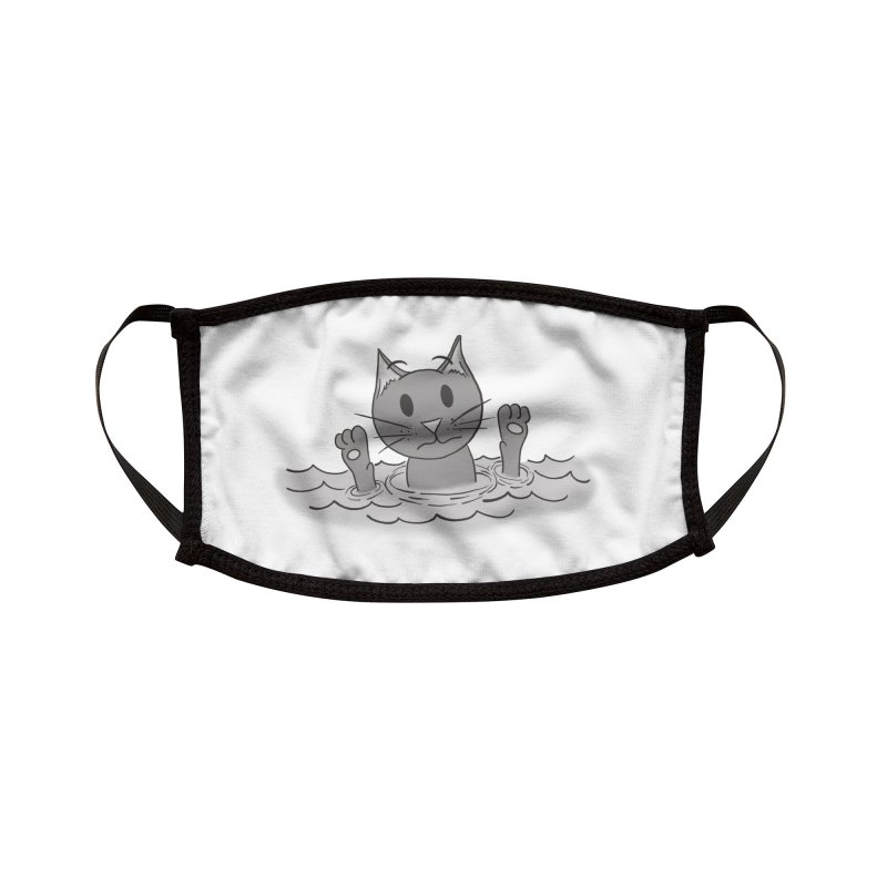 Cats don't Swim Accessories Face Mask by carolyn sehgal's Artist Shop