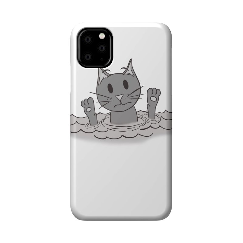 Cats don't Swim Accessories Phone Case by carolyn sehgal's Artist Shop