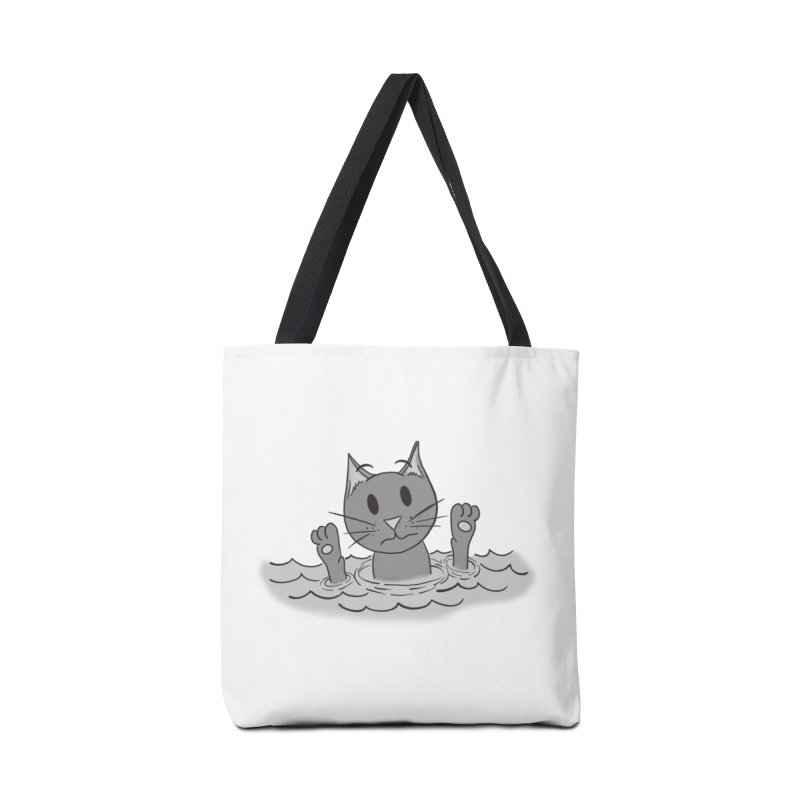 Cats don't Swim Accessories Bag by carolyn sehgal's Artist Shop