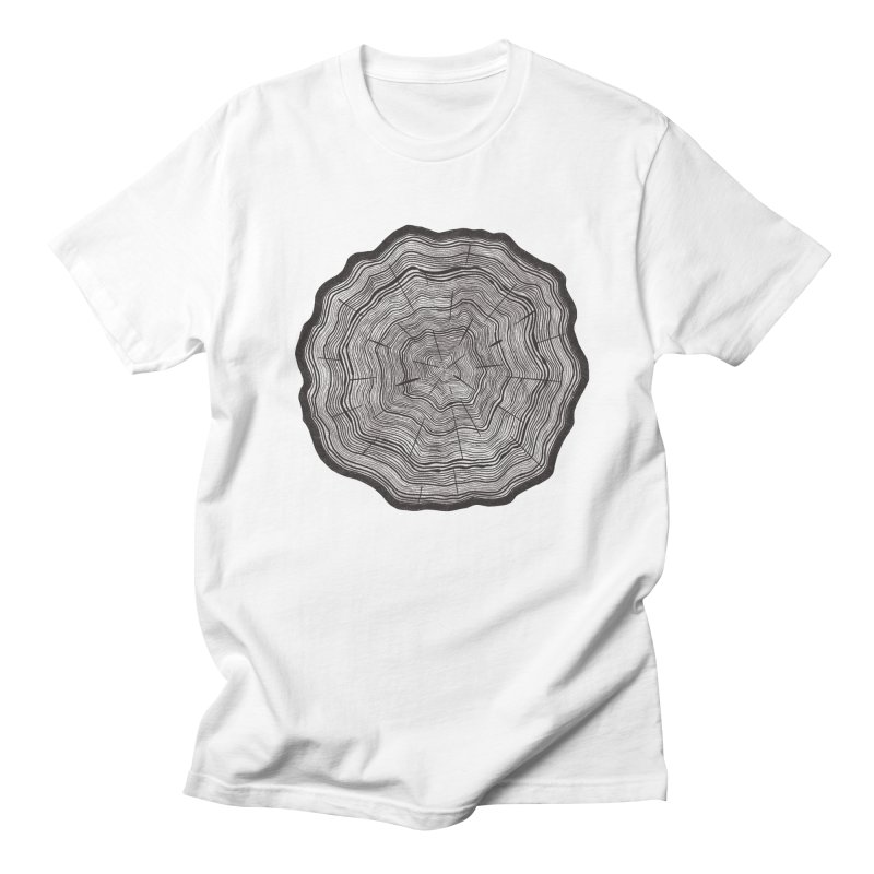 Tree Ring Men's T-Shirt by carolyn sehgal's Artist Shop