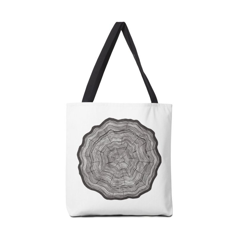 Tree Ring Accessories Bag by carolyn sehgal's Artist Shop