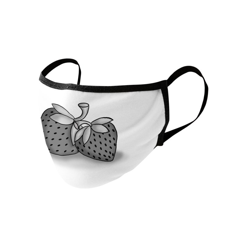 Strawberry Accessories Face Mask by carolyn sehgal's Artist Shop
