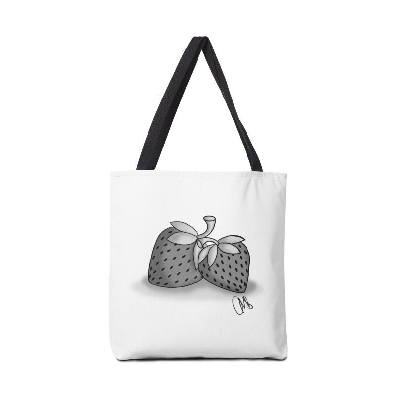 Strawberry Accessories Bag by carolyn sehgal's Artist Shop