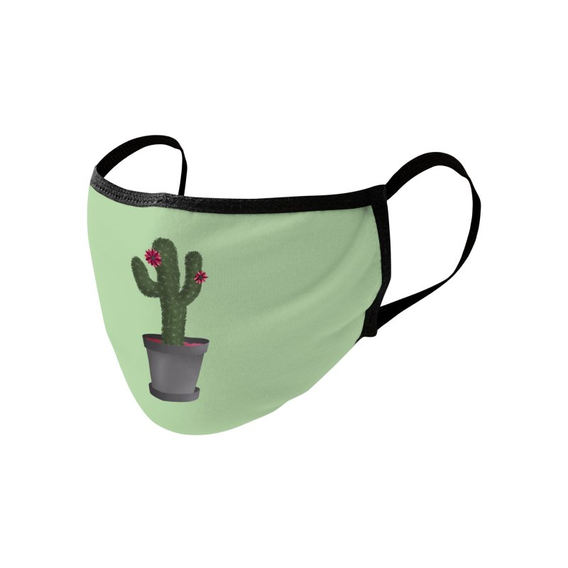 Cactus Accessories Face Mask by carolyn sehgal's Artist Shop