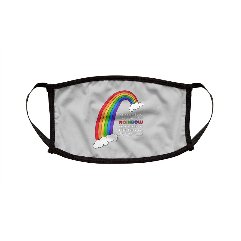 Rainbow Connections Accessories Face Mask by carolyn sehgal's Artist Shop
