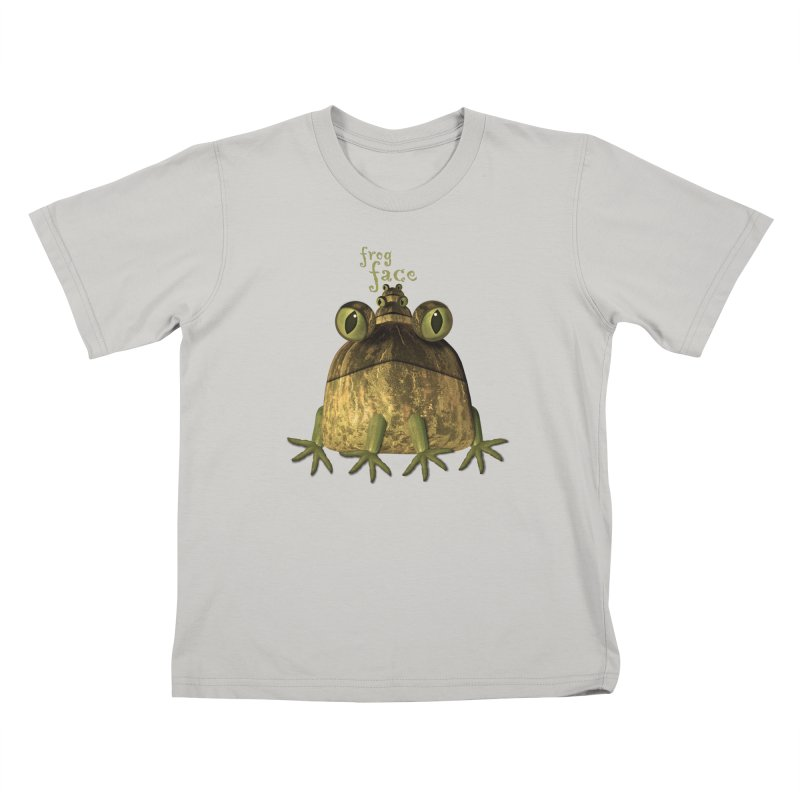 Frog Face in Kids T-Shirt Stone by Carrie Webster's Artist Shop