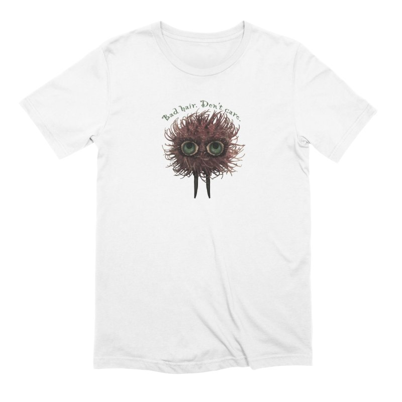 Bad Hair. Don't Care. in Men's Extra Soft T-Shirt White by Carrie Webster's Artist Shop