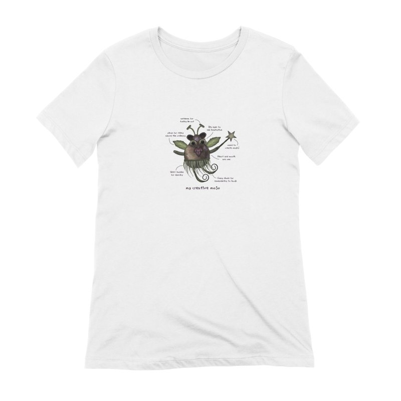 Meet My Creative Mojo in Women's Extra Soft T-Shirt White by Carrie Webster's Artist Shop