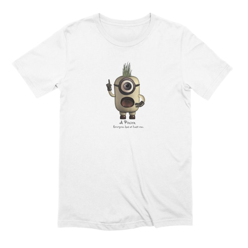 A Pinion in Men's Extra Soft T-Shirt White by Carrie Webster's Artist Shop