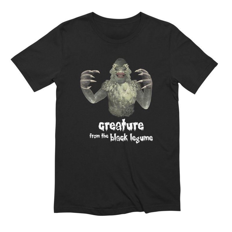 Creature from the Black Legume in Men's Extra Soft T-Shirt Black by Carrie Webster's Artist Shop