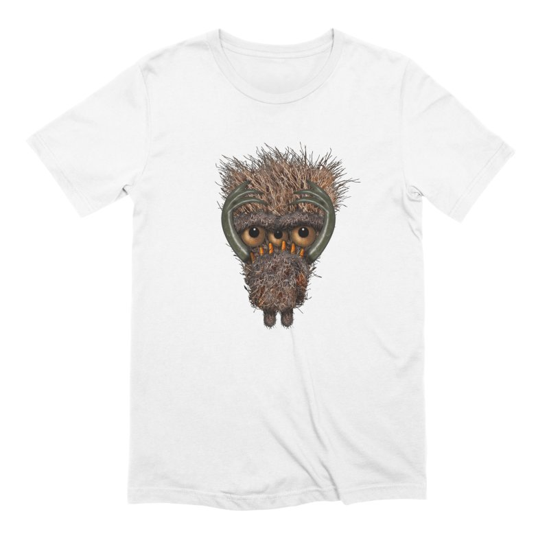 Monster of Anxiety in Men's Extra Soft T-Shirt White by Carrie Webster's Artist Shop