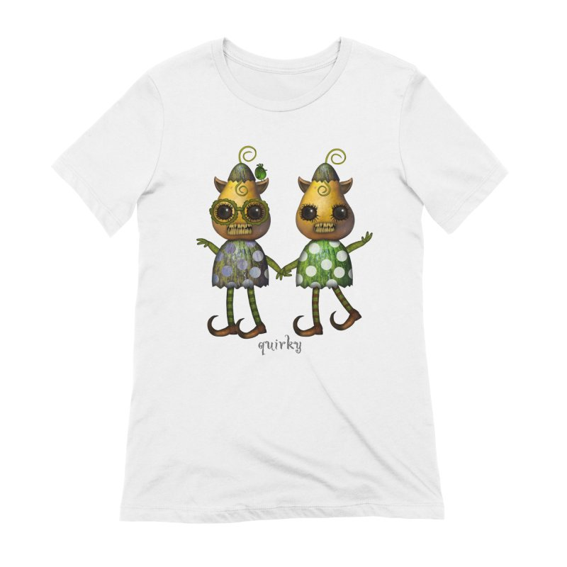 Monster twins of quirky in Women's Extra Soft T-Shirt White by Carrie Webster's Artist Shop