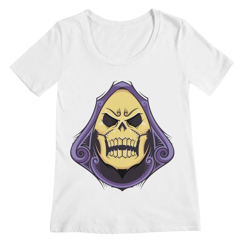 Skeletor Women's Scoopneck by carterson's Artist Shop
