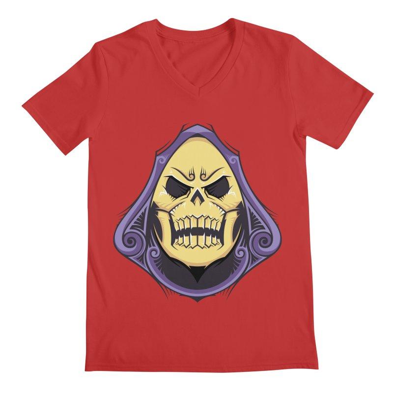 Skeletor Men's V-Neck by carterson's Artist Shop