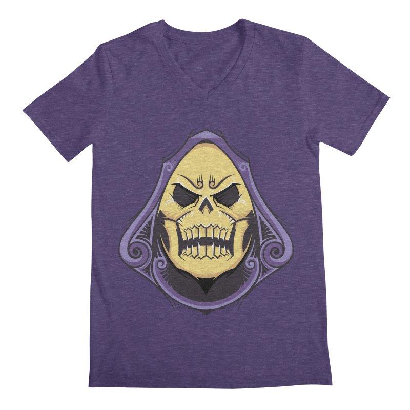 Skeletor Men's Regular V-Neck by carterson's Artist Shop