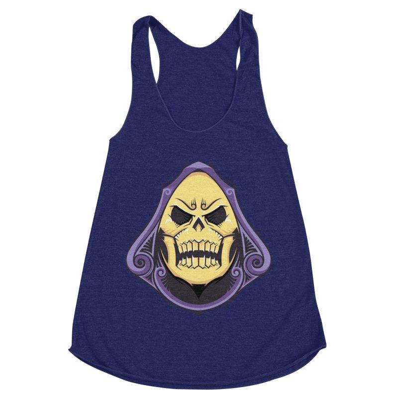 Skeletor Women's Racerback Triblend Tank by carterson's Artist Shop