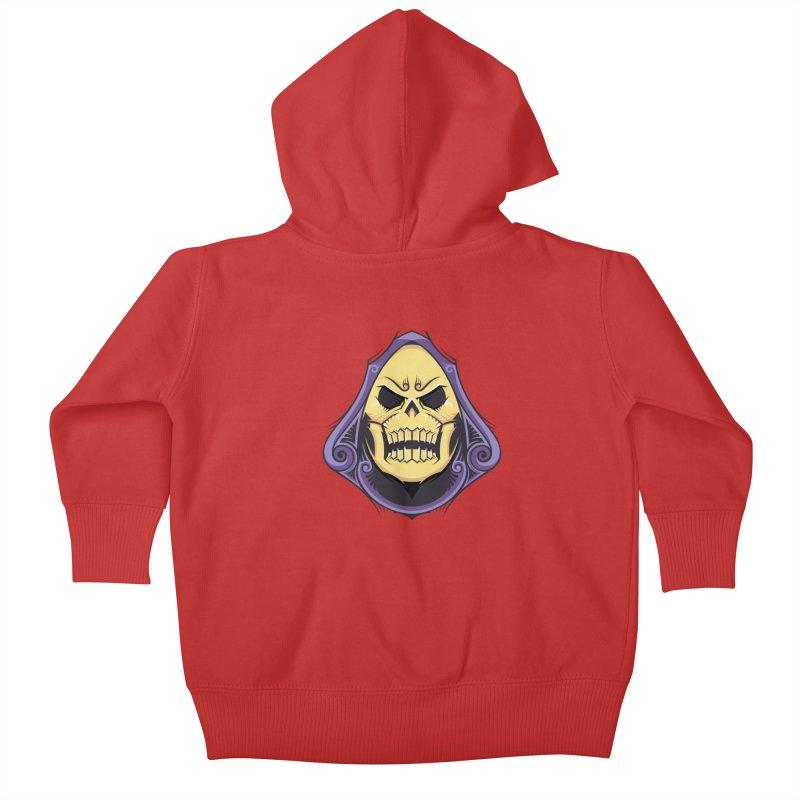 Skeletor Kids Baby Zip-Up Hoody by carterson's Artist Shop