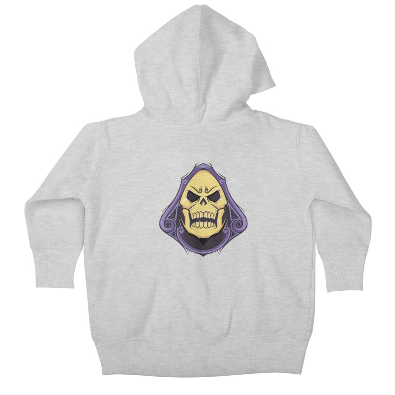 Skeletor Kids Baby Zip-Up Hoody by carterson's Artist Shop