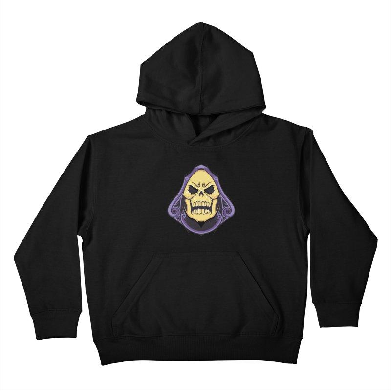 Skeletor Kids Pullover Hoody by carterson's Artist Shop