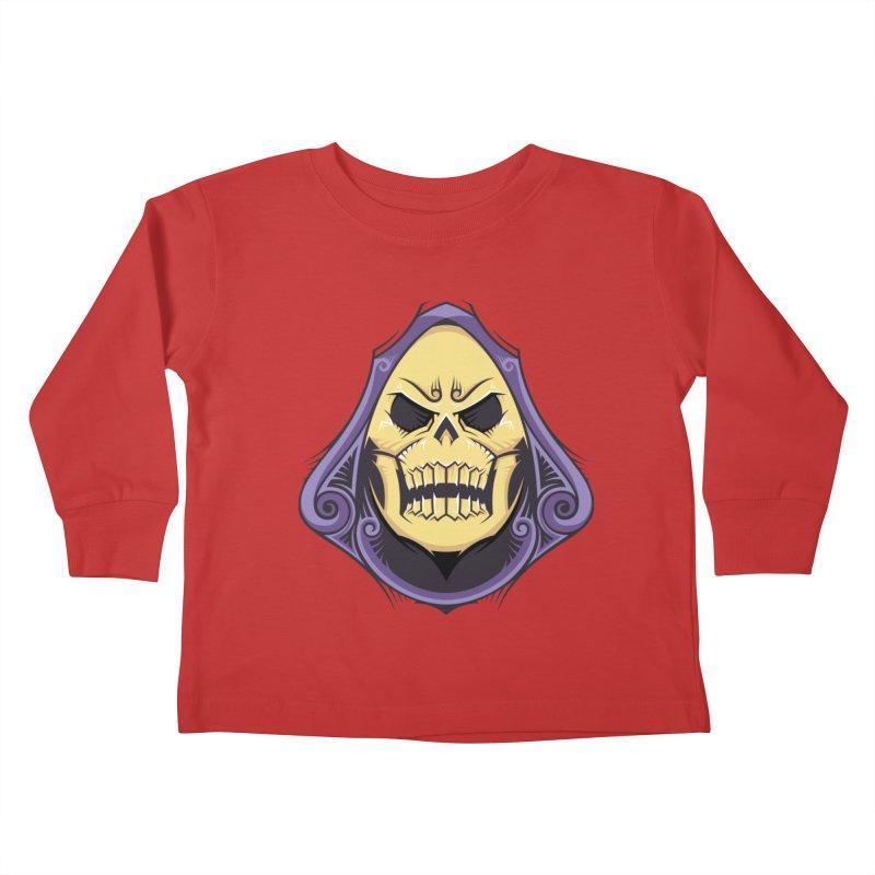 Skeletor Kids Toddler Longsleeve T-Shirt by carterson's Artist Shop