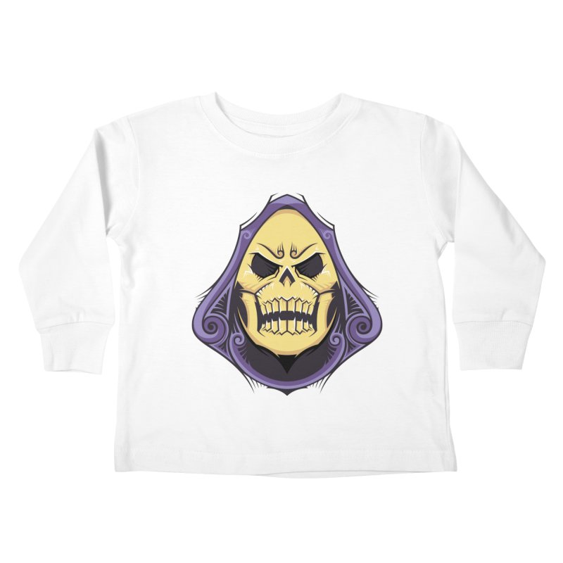 Skeletor Kids Toddler Longsleeve T-Shirt by carterson's Artist Shop