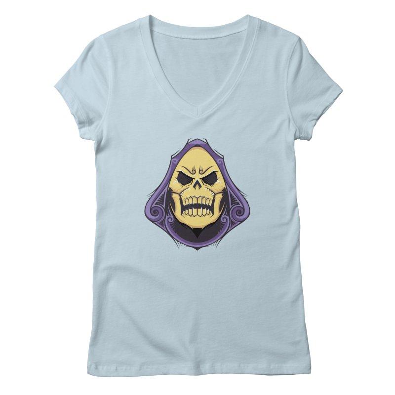 Skeletor Women's Regular V-Neck by carterson's Artist Shop