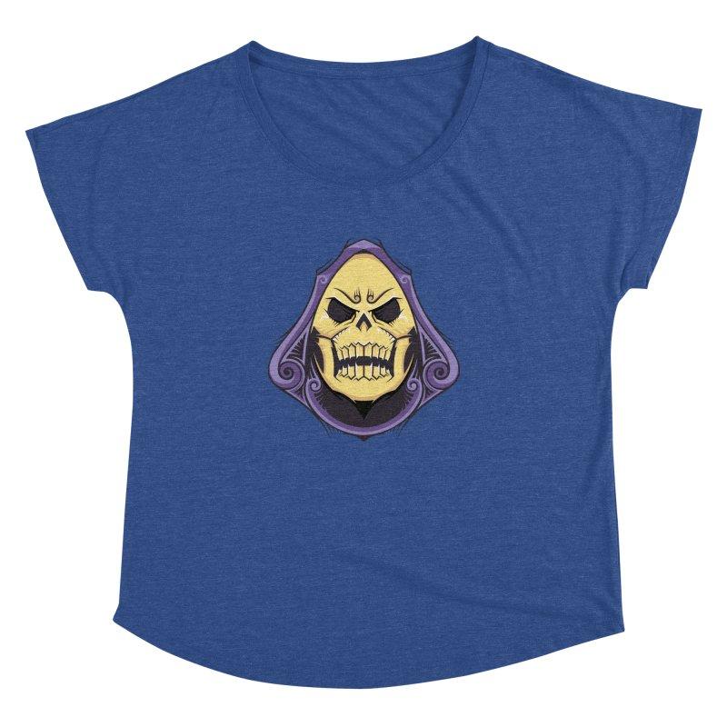 Skeletor Women's Dolman Scoop Neck by carterson's Artist Shop