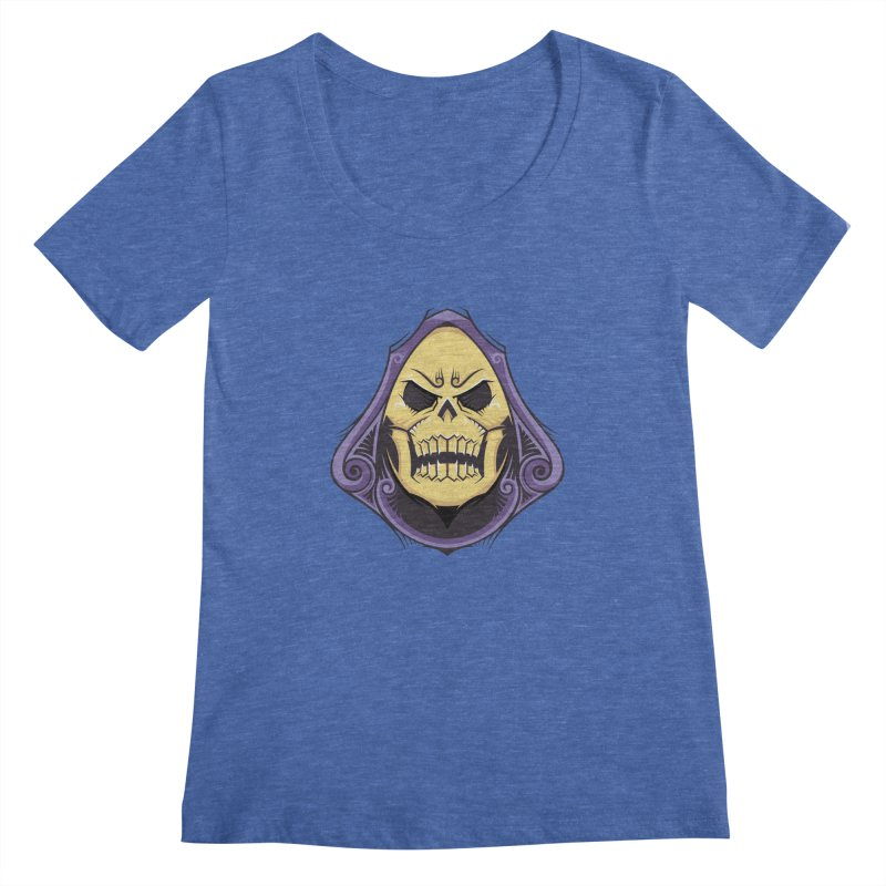 Skeletor Women's Regular Scoop Neck by carterson's Artist Shop