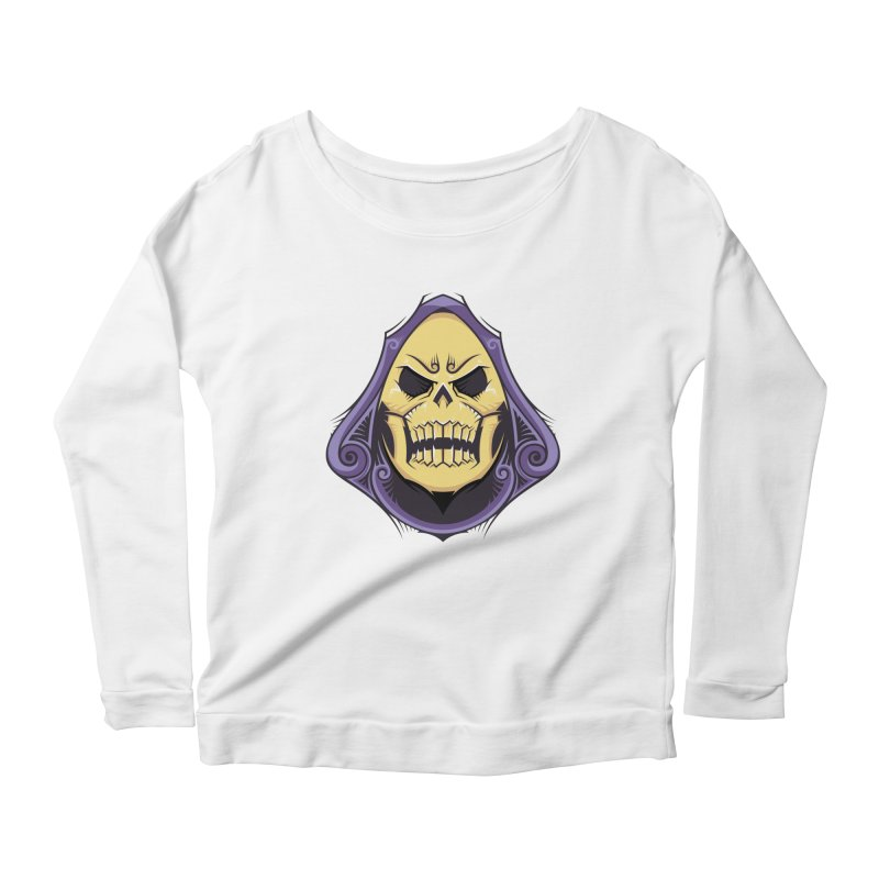 Skeletor Women's Scoop Neck Longsleeve T-Shirt by carterson's Artist Shop
