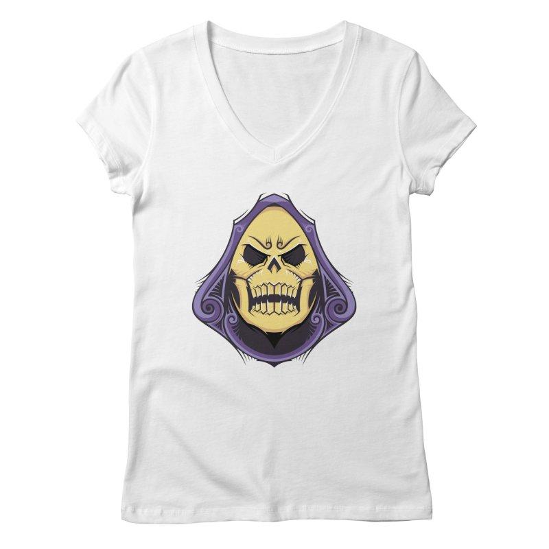 Retro Sorcerer Women's V-Neck by carterson's Artist Shop