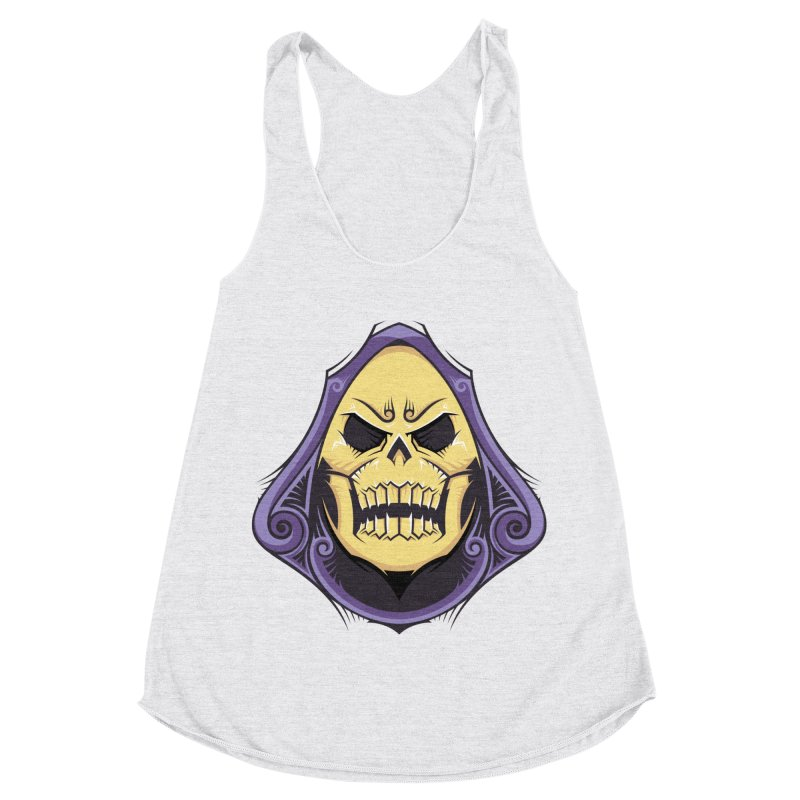 Skeletor Women's Racerback Triblend Tank by carterson's Artist Shop
