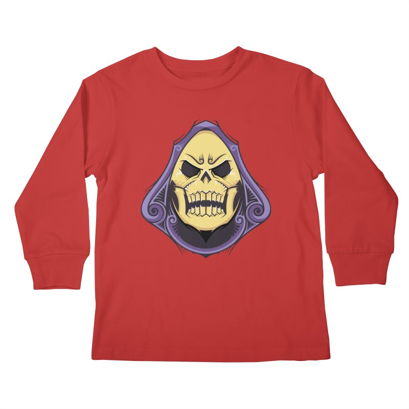 Skeletor Kids Longsleeve T-Shirt by carterson's Artist Shop