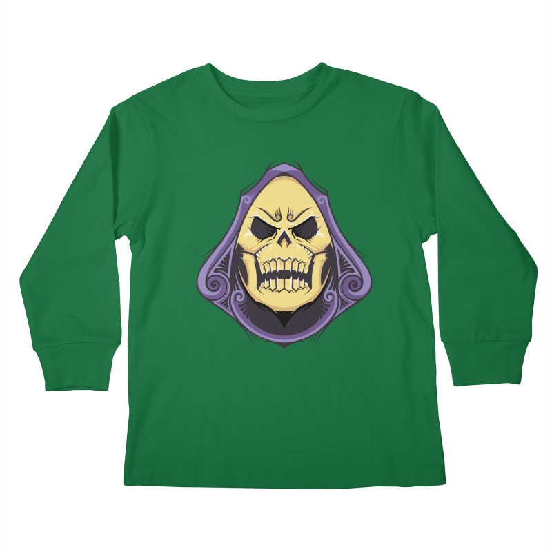 Skeletor Kids Longsleeve T-Shirt by carterson's Artist Shop