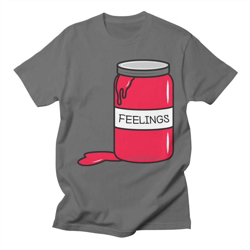 Feelings in a Jar in Men's Regular T-Shirt Asphalt by cartoonbeing's Artist Shop
