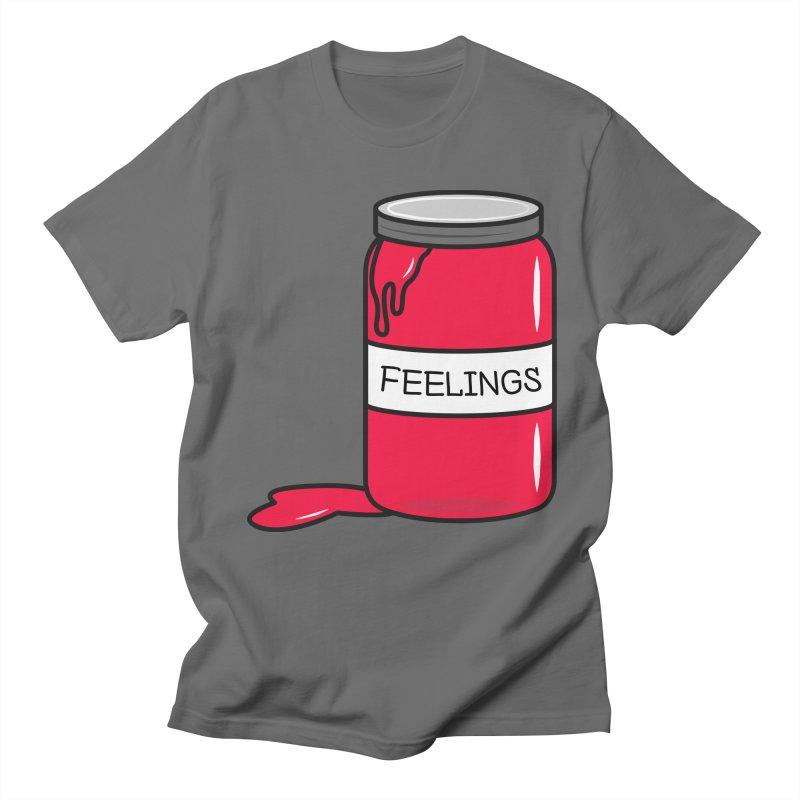 Feelings in a Jar in Men's T-Shirt Asphalt by cartoonbeing's Artist Shop
