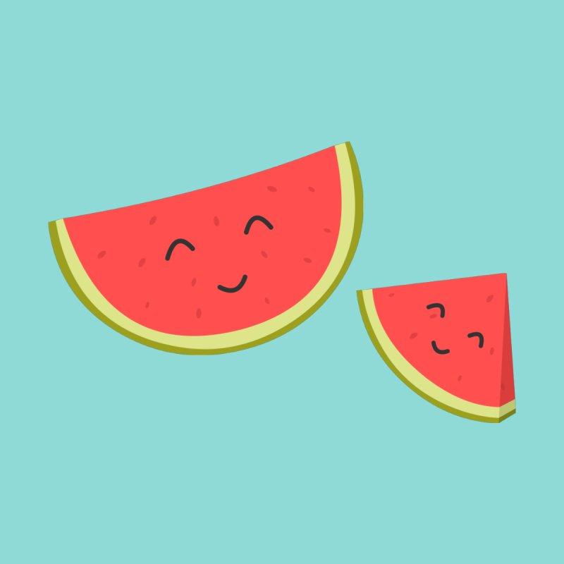 Happy Watermelon Women's Fitted T-Shirt by cartoonbeing's Artist Shop