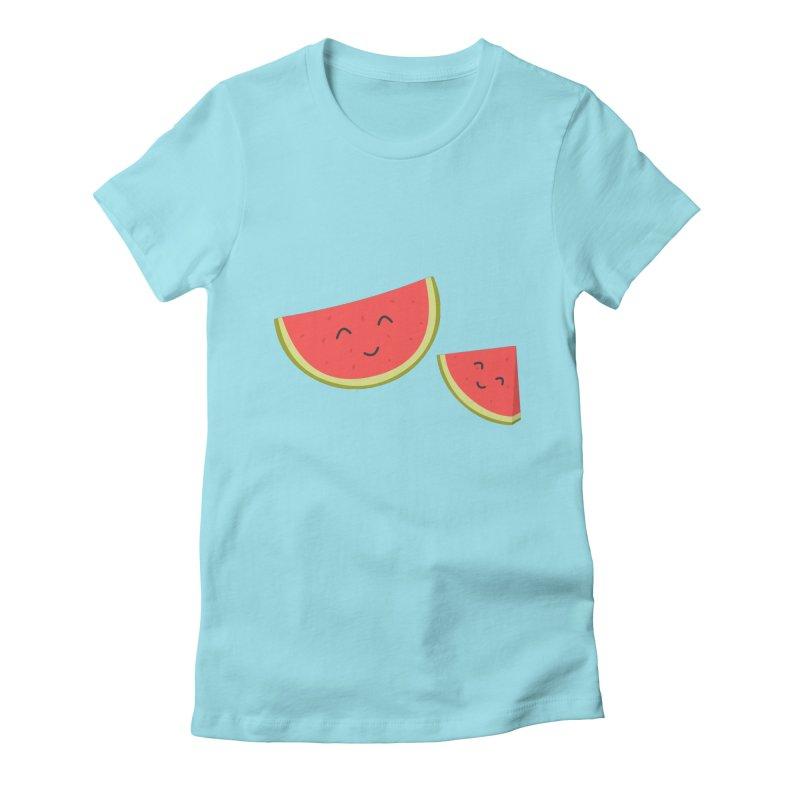 Happy Watermelon Women's T-Shirt by cartoonbeing's Artist Shop