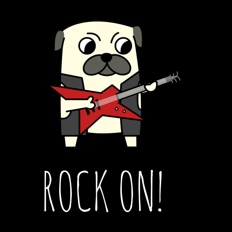 Rockstar Pug Men's T-Shirt by cartoonbeing's Artist Shop