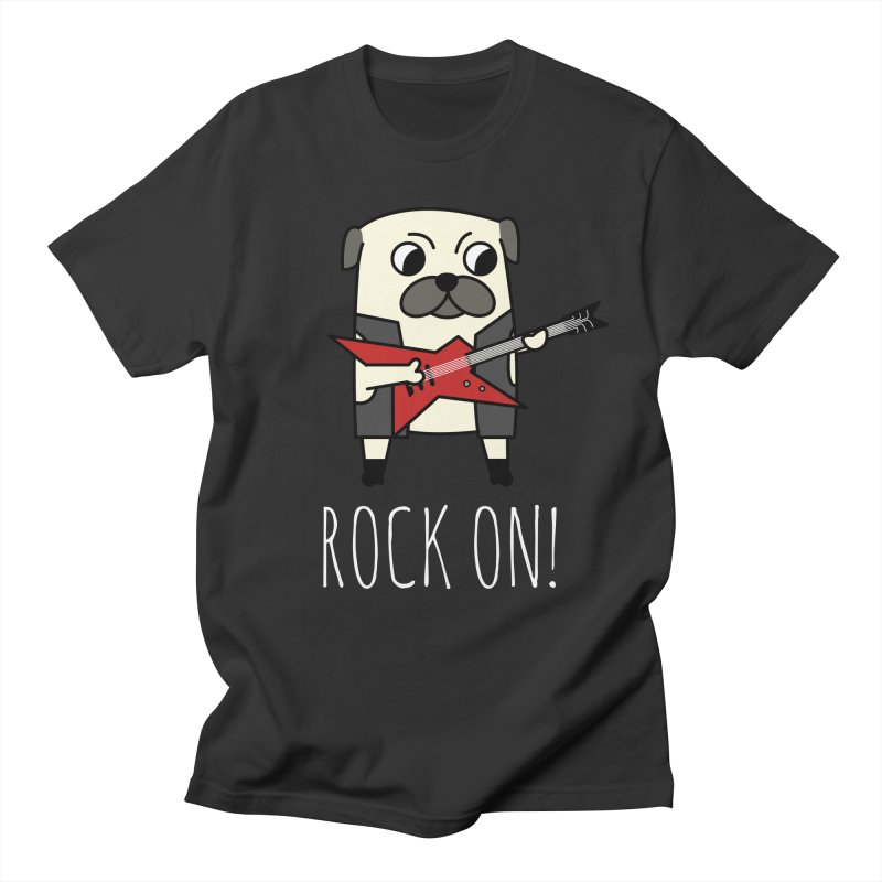 Rockstar Pug in Men's Regular T-Shirt Smoke by cartoonbeing's Artist Shop